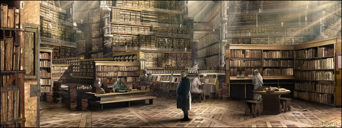 Sam enters the Citadel Library, GoT Season 6 by Kieran Belshaw